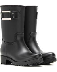Roger Vivier - Embellished Rubber Boots - Lyst