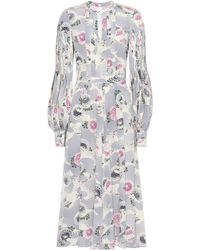 Co. - Floral-printed Silk Dress - Lyst