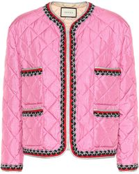 Gucci - Quilted Jacket - Lyst