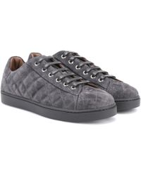 Gianvito Rossi - Low Driver Suede Trainers - Lyst