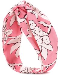 Valentino - Garavani Floral-printed Silk Headband - Lyst