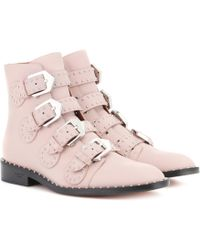 Givenchy | Embellished Leather Ankle Boots | Lyst