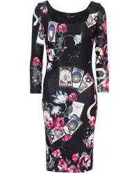 Roberto Cavalli - Printed Long-sleeved Dress - Lyst