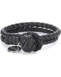 Bottega Veneta - Knot Woven Leather Bracelet - Lyst