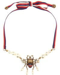 Gucci - Embellished Necklace - Lyst