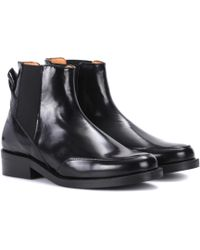 Ganni - Violet Leather Chelsea Boots - Lyst