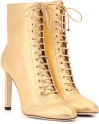 Jimmy Choo - Daize 100 Metallic Leather Ankle Boots - Lyst