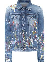 Calvin Klein - Paint Splatter Denim Jacket - Lyst
