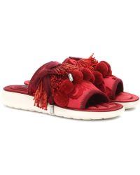Marc Jacobs - Emerson Pompom Embellished Slides - Lyst