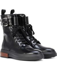 Tod's - Lace-up Leather Ankle Boots - Lyst