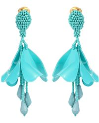 Oscar de la Renta - Impatiens Mini Earrings - Lyst