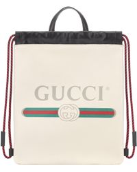 3ebabfef4d7005 Gucci Tian Garden Canvas Backpack in Green - Lyst