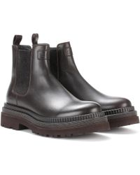Brunello Cucinelli | Leather Chelsea Boots | Lyst