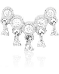 Stone Paris - Talitha 18kt White Gold Diamond Earring - Lyst