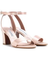 Tabitha Simmons - Leticia Satin Sandals - Lyst
