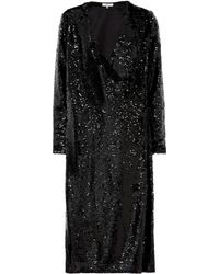 Ganni - Sequined Midi Dress - Lyst