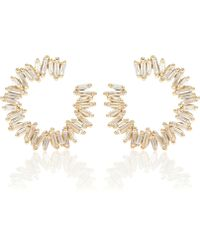Suzanne Kalan - Spiral 18kt Gold Earrings With Diamonds - Lyst