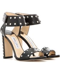 Jimmy Choo | Veto 100 Embellished Leather Sandals | Lyst