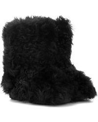 Saint Laurent - Shearling Ankle Boots - Lyst