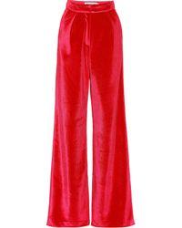 Self-Portrait - Pantalones de terciopelo anchos - Lyst