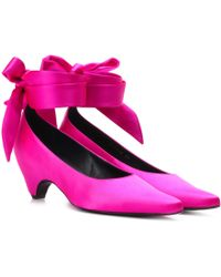 Stella McCartney - Bow-tied Satin Court Shoes - Lyst