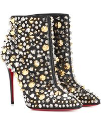 eca84b7c3606 Christian Louboutin So Kate Booty 100 Ankle Boots in Black - Lyst