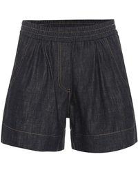 Brunello Cucinelli - Denim Shorts - Lyst