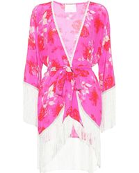 Athena Procopiou - Sundown Breeze Floral Silk Kimono - Lyst