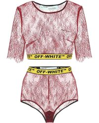 Off-White c/o Virgil Abloh - Two-piece Lace Body - Lyst