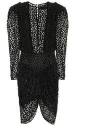 Isabel Marant - Margaret Flocked Velvet Dress - Lyst