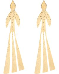 JW Anderson - Hammered Bird Gold-plated Earrings - Lyst