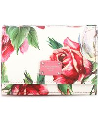 Dolce & Gabbana - Floral Leather Wallet - Lyst