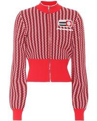 Miu Miu - Knitted Cropped Jacket - Lyst