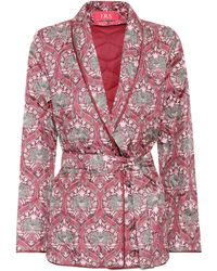 F.R.S For Restless Sleepers - Printed Silk-satin Jacket - Lyst