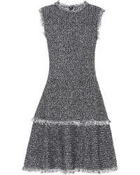 Oscar de la Renta - Bouclé Wool-blend Dress - Lyst
