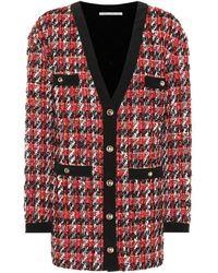 Alessandra Rich - Cardigan in tweed di misto lana - Lyst
