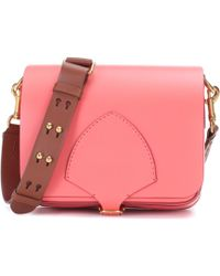 Burberry - The Square Leather Satchel - Lyst