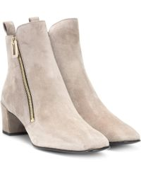 Roger Vivier - Polly Zip Suede Ankle Boots - Lyst
