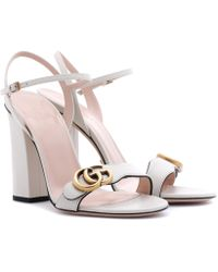 Gucci - Marmont 105 Leather Sandals - Lyst