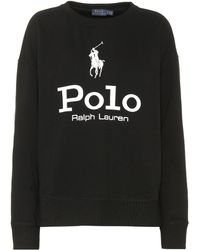Polo Ralph Lauren - Printed Cotton-blend Sweatshirt - Lyst