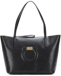 Ferragamo - Gancini Leather Tote - Lyst