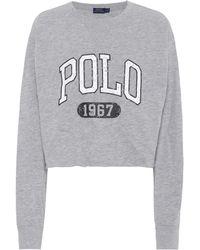 Polo Ralph Lauren | Printed Cotton Jersey Sweatshirt | Lyst