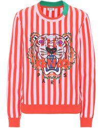 KENZO - Besticktes Sweatshirt aus Baumwolle - Lyst