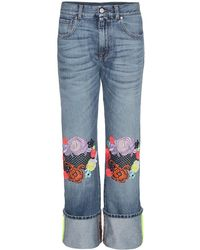 Christopher Kane - Jeans con ricamo - Lyst