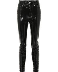 Unravel - High-rise Vinyl Skinny Jeans - Lyst