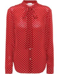 RED Valentino - Polka-dot Silk Blouse - Lyst