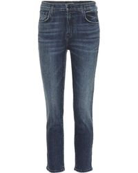 J Brand - Ruby Cropped High-rise Skinny Jeans - Lyst