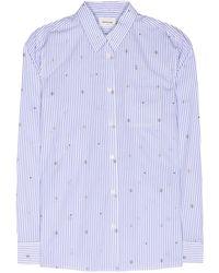 WOOD WOOD - Lori Striped Cotton Shirt - Lyst