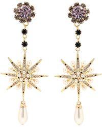 Erdem - Jewelled Star Clip-on Earrings - Lyst