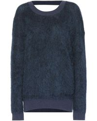 Mugler - Mohair And Wool-blend Jumper - Lyst